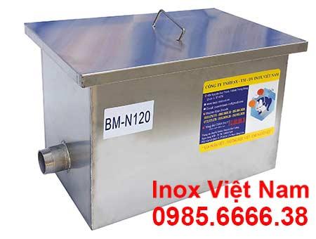 Bể Tách Dầu Mỡ Bếp Công Nghiệp Lắp Nổi 120Lít BM-N120