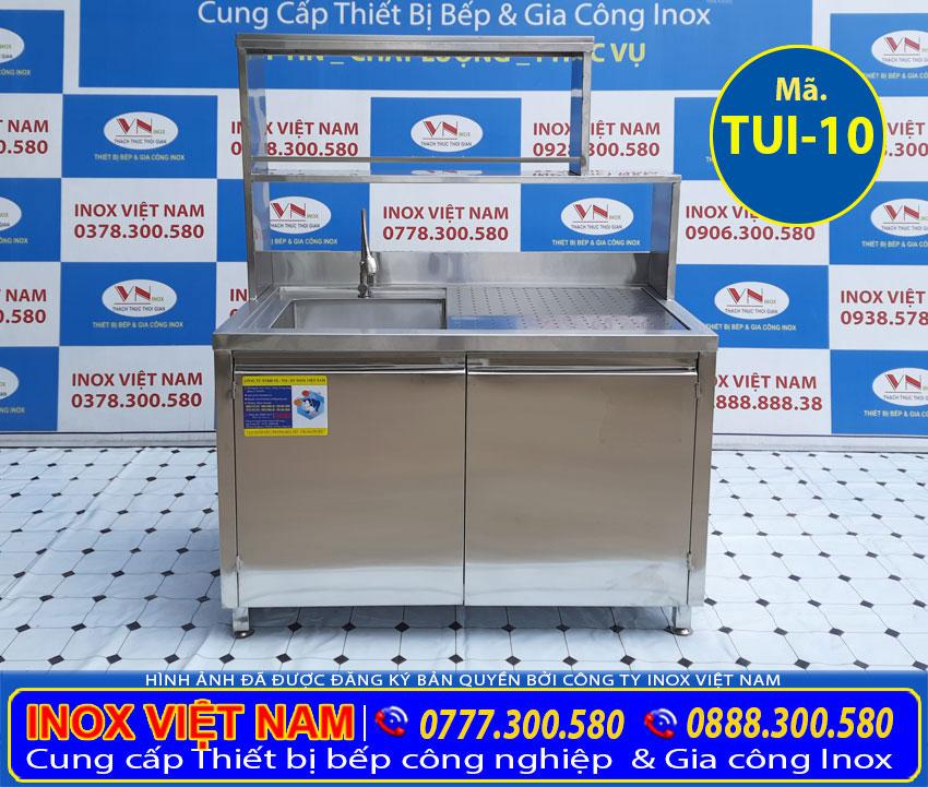 Báo giá tủ bếp có bồn rửa chén TUI-10.