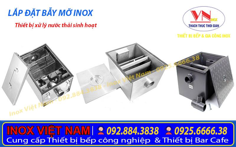 Thiết bị bếp inox công nghiệp - Địa chỉ chuyên cung cấp và gia công các loại bể tách mỡ inox. Với mẫu mã, kích thước và kiểu dáng theo yêu cầu đơn đặt hàng uy tín nhất tại TPHCM.