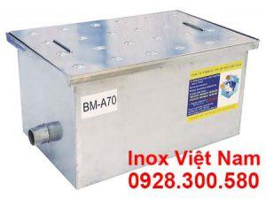 Bẫy Mỡ Inox Nhà Hàng Âm Sàn 70L BM-A70