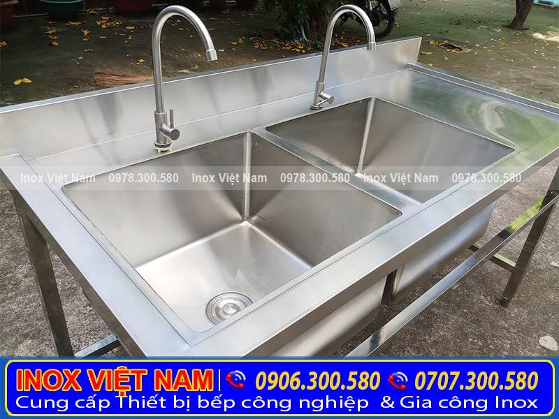Chậu rửa inox, bồn rửa tay inox chất lượng chỉ có tại Thiết bị bếp inox công nghiệp.