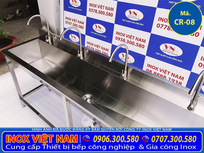 Báo giá máng rửa tay inox công nghiệp, bồn rửa tay inox cho trẻ mầm non cao cấp giá tốt.