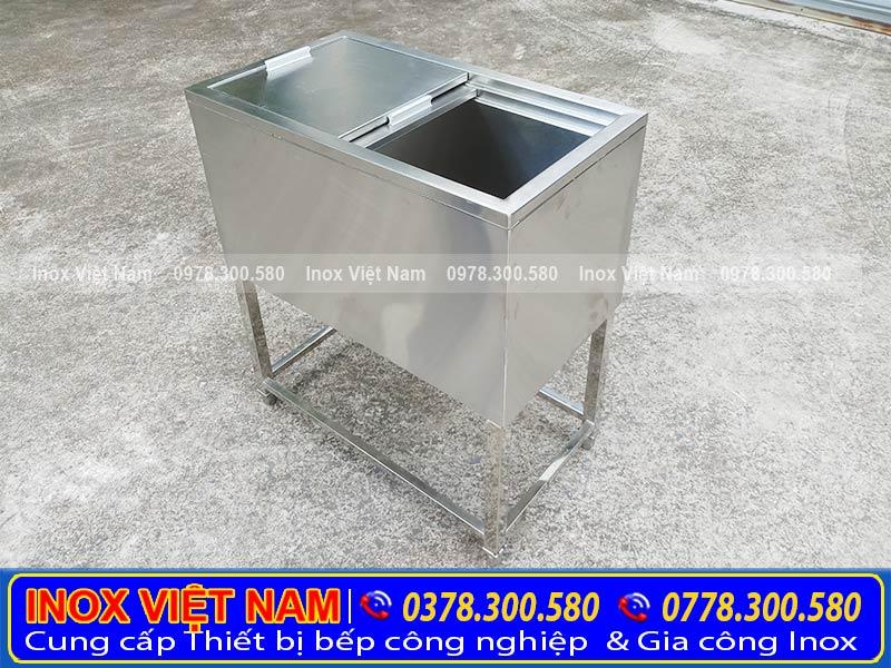 Thiết bị bếp inox công nghiệp địa chỉ chuyên cung cấp thùng đá inox, thùng đá inox âm bàn, thùng đá quầy bar. Uy tín chất lượng, giá tốt tại TPHCM.