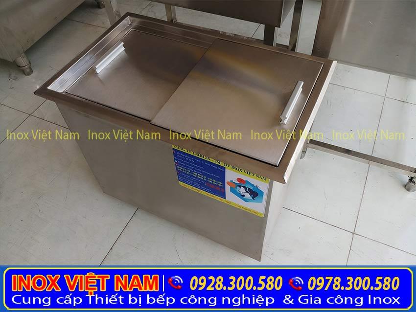 Thiết bị bếp inox công nghiệp - địa chỉ chuyên cung cấp thùng đựng đá inox, thùng đá quầy bar, thùng đá âm bàn giá rẻ chất lượng nhất tại TPHCM.