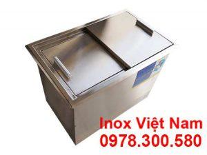 Thùng Đá Inox Âm Bàn 400x400x600