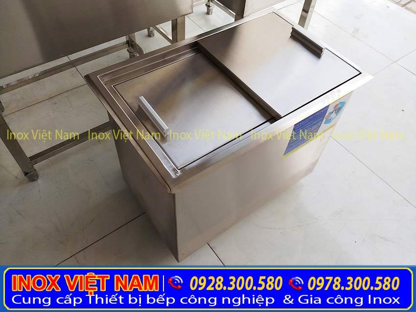 Thiết bị bếp inox công  nghiệp địa chỉ mua thùng đá inox, thùng đá âm bàn, thùng đá inox quầy bar chất lượng nhất tại TPHCM.