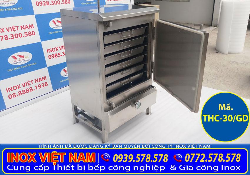 Tủ hấp cơm 30kg dùng điện và gas, tủ hấp cơm công nghiệp 30kg, tủ hấp cơm công nghiệp cao cấp giá tốt (Ảnh thật tế).