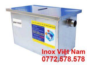 Bể Tách Mỡ Inox Lắp Nổi 30L BM-N30