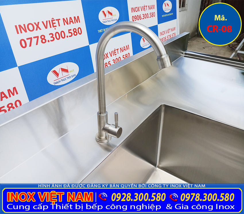 Vòi nước chậu rửa công nghiệp | chậu rửa công nghiệp inox | bồn rửa chén công nghiệp | chậu rửa bát công nghiệp | bồn rửa công nghiệp inox (Ảnh thật tế).
