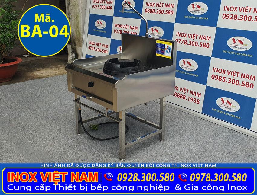 Bếp ga công nghiệp 1 họng, bếp khè gas công nghiệp 1 họng đốt - Mẫu bếp á công nghiệp cao cấp đến từ Inox Việt Nam.