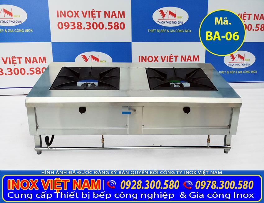 Báo giá bếp hầm đôi không gáy BA-06, bếp á 2 họng, bếp khè 2 họng, bếp công nghiệp 2 họng chính hãng, chất lượng.