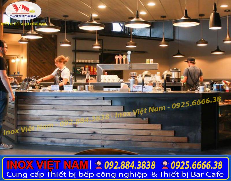 Quầy bar cafe mini dành cho những không gian nhẹ nhàng trầm lắng