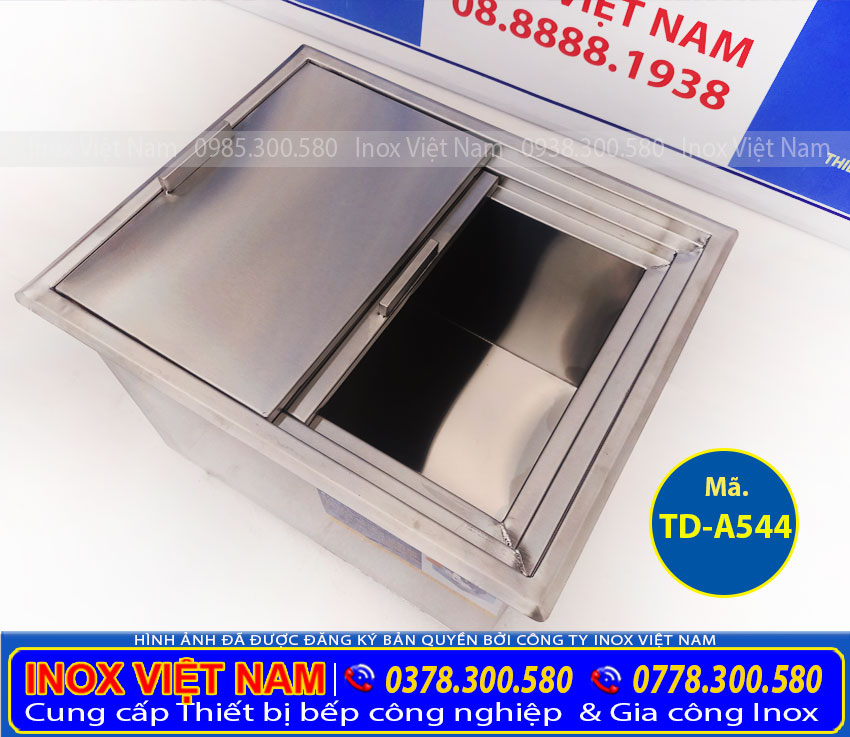 Thùng đá inox âm bàn quầy bar TD-A544, thùng đá inox 304. Với thiết kế inox nhẹ nhàng tinh tế, kiểu dáng hiện đại, thiết kế trang nhã, dễ dàng sử dụng.(ảnh thật tế).