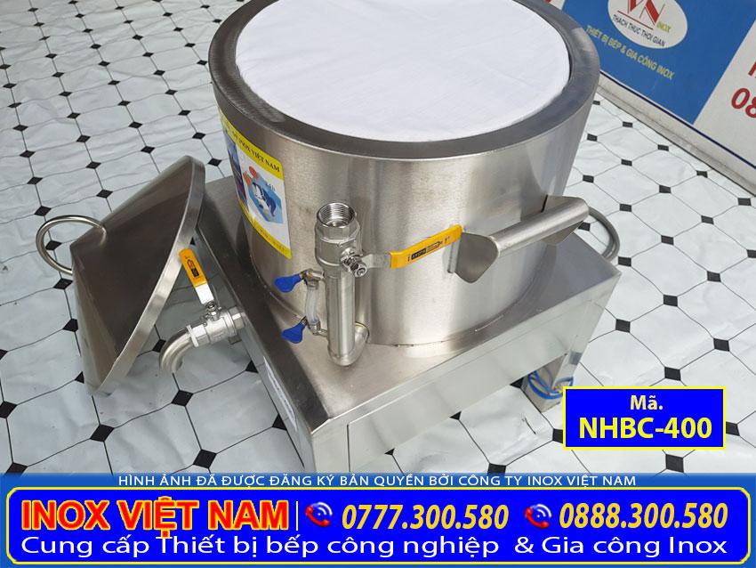 Chi tiết ống đo mực nước nồi làm bánh cuốn, máy làm bánh cuốn bằng điện.