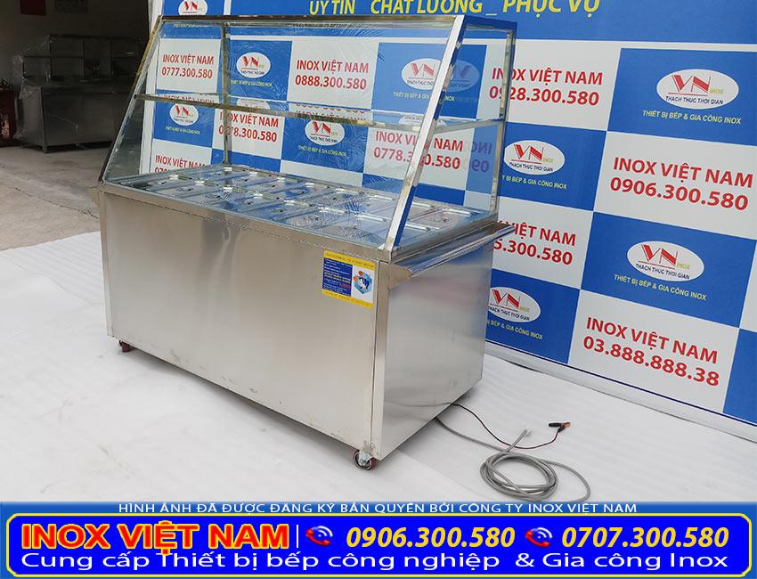Địa chỉ bán tủ hâm nóng thức ăn giá rẻ, tủ giữ nóng thức ăn 16 khay cao cấp chính hãng (Ảnh thật tế).