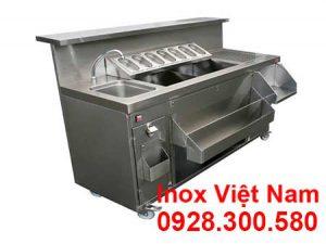 Quầy Bar – QQuầy Bar – Quầy Pha Chế Trà Sữa Inox QB18004uầy Pha Chế Trà Sữa Inox QB18004