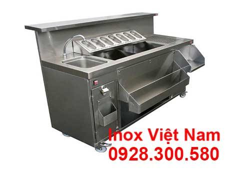 Quầy-Bar-Inox-Quầy-Pha-Chế-Trà-Sữa-Inox-QB18004-1