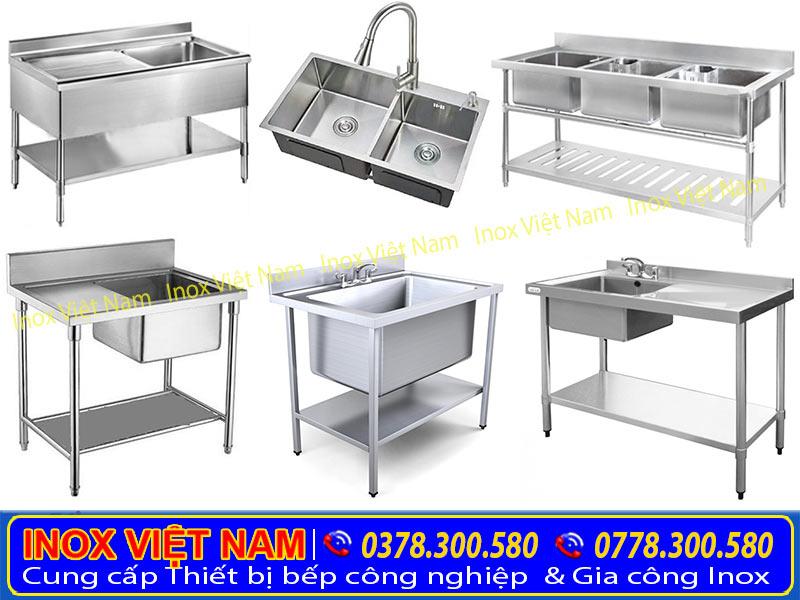 Chậu rửa công nghiệp của công ty Inox Việt Nam với nhiều kiểu dáng hình dạng khác nhau. Phù hợp với nhiều yêu cầu khác nhau của khách hàng.