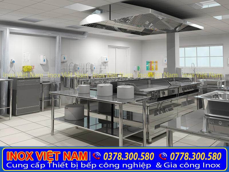 Inox Việt Nam lắp đặt hệ thống chụp hút mùi bếp công nghiệp, hệ thống hút khói nhà hàng qua Hotline: 0378.300.580 + 0778.300.580.