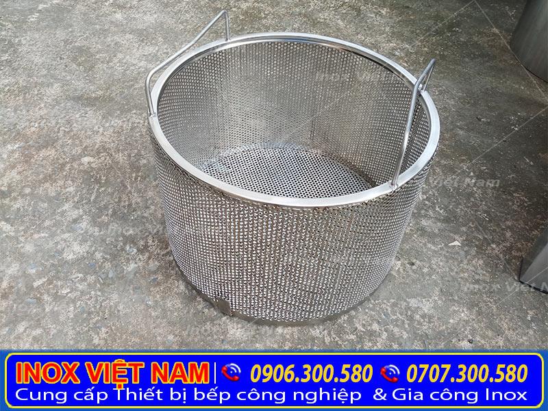Giỏ lọc xương, đựng xương nồi nấu phở điện của Inox Việt nam với thiết kế với chất liệu 100% inox 304.