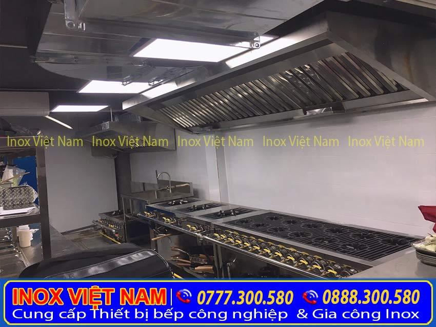 Inox Việt Nam lắp đặt hệ thống chụp hút mùi bếp công nghiệp, hệ thống hút khói nhà hàng qua Hotline: 0928.300.580 + 0978.300.580.