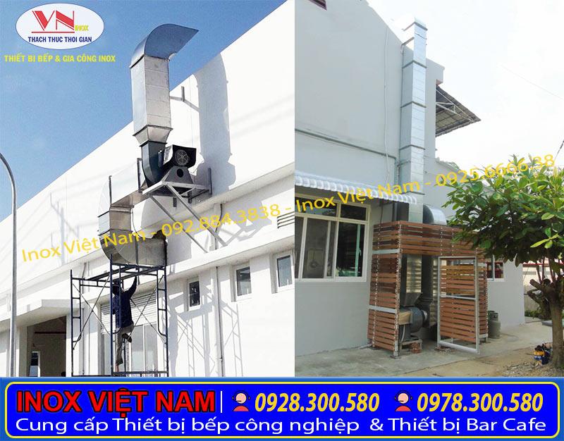 Inox Việt Nam lắp đặt hệ thống chụp hút mùi, hệ thống hút khói nhà hàng.