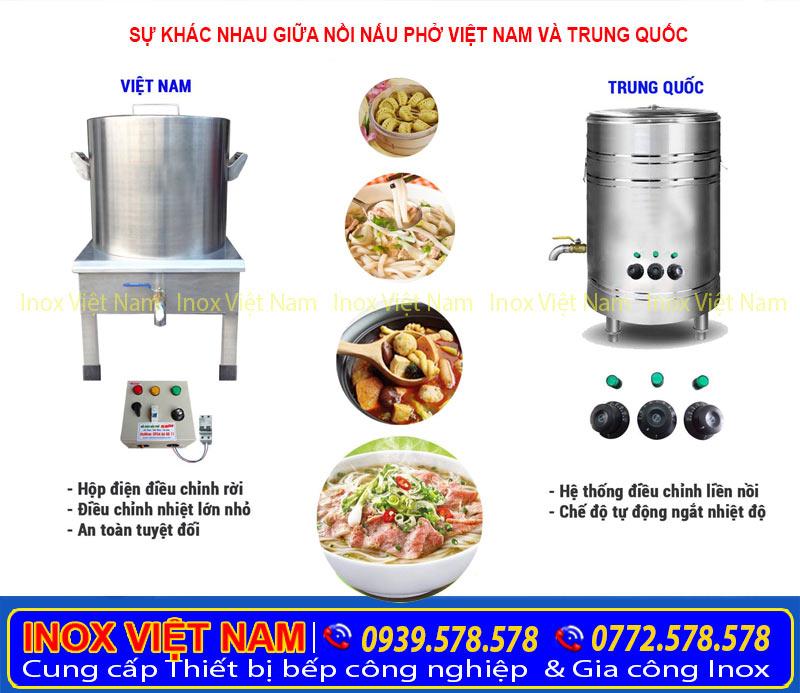 So sánh nồi nấu phở chính hãng Inox Việt Nam và Trung Quốc