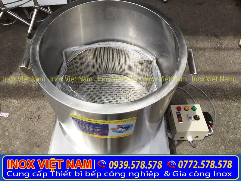 Cấu tạo bên trong chiếc nồi nấu cháo điện, nồi hầm xương, nồi nấu nước lèo bằng điện của Inox Việt Nam.