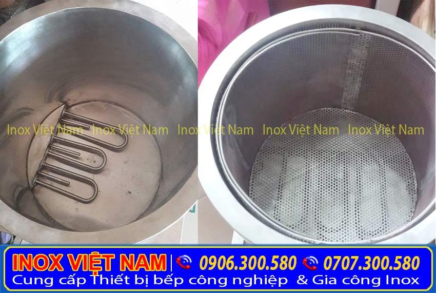 Thanh nhiệt nồi nấu phở công nghiệp giúp giữ nóng nước dùng.