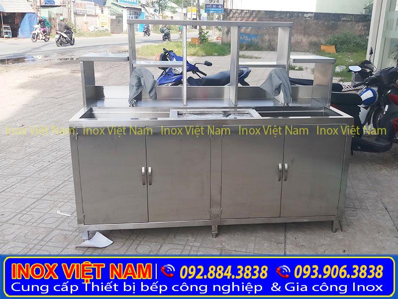 Quầy bar inox, quầy pha chế trà sữa, quầy pha chế inox, quầy bar bếp với thiết kế đẹp, độ bền cao.