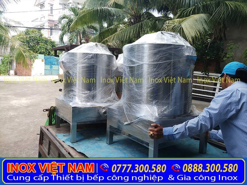 Nồi điện nấu phở, nồi nấu cháo 20l, nồi nấu hủ tiếu của Inox Việt Nam đang chuẩn bị giao cho khách hàng.