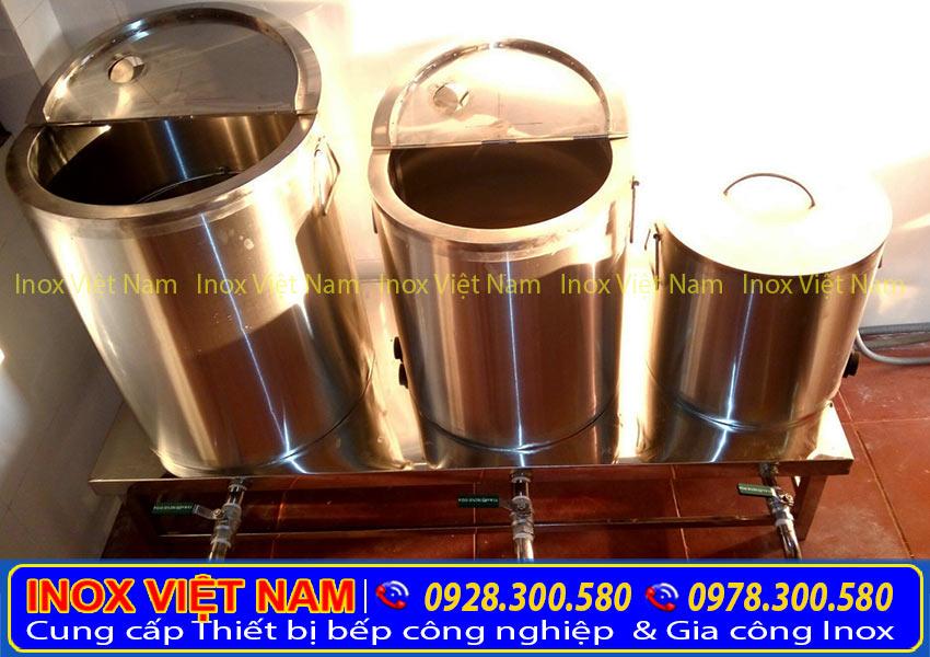 Bộ 3 nồi nấu phở bằng điện 20L-60L-100L, nồi nấu hủ tiếu, nồi hầm xương của Inox Việt Nam giúp tiết kiệm. điện