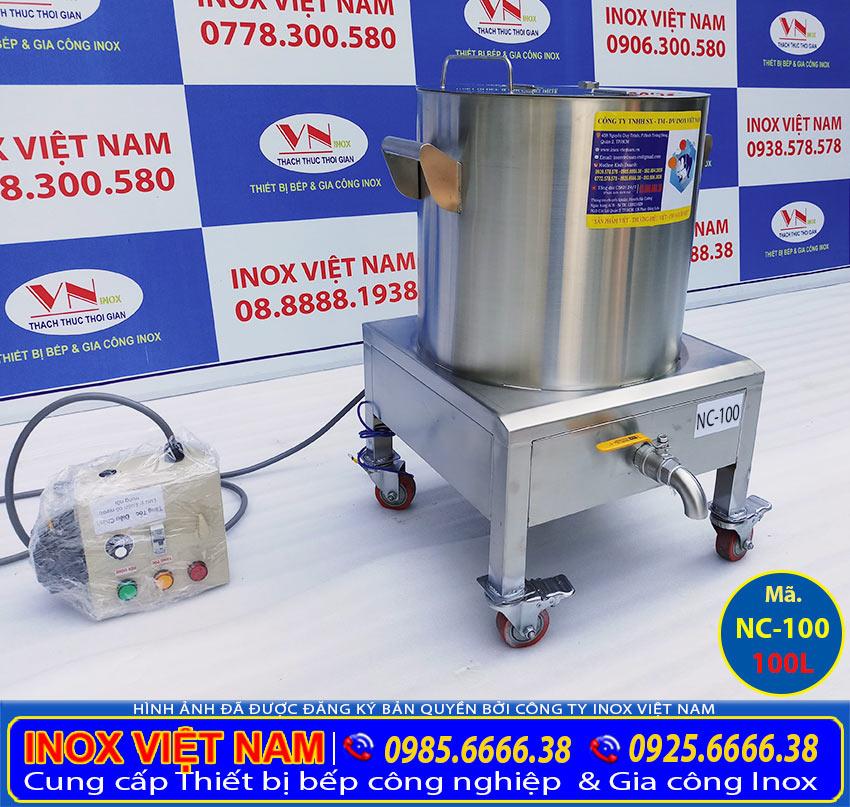 Địa chỉ mua nồi nấu cháo bằng điện 100L giá tốt tại TPHCM ( Ảnh thật tế).