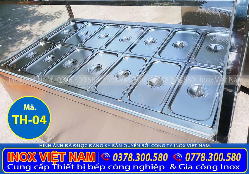 Thân tủ hâm nóng thức ăn 14 khay inox 304 TH-04.