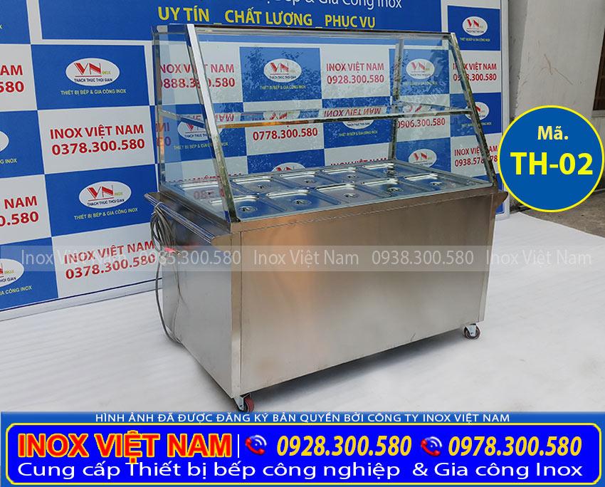 Giá tủ hâm nóng thức ăn 10 khay inox, tủ giữ nóng thức ăn 10 khay (Ảnh thật tế).