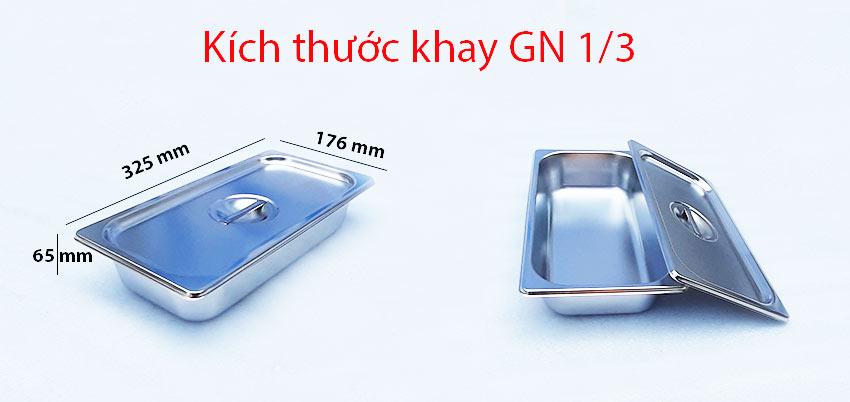 kích thước khay GN 1/3.
