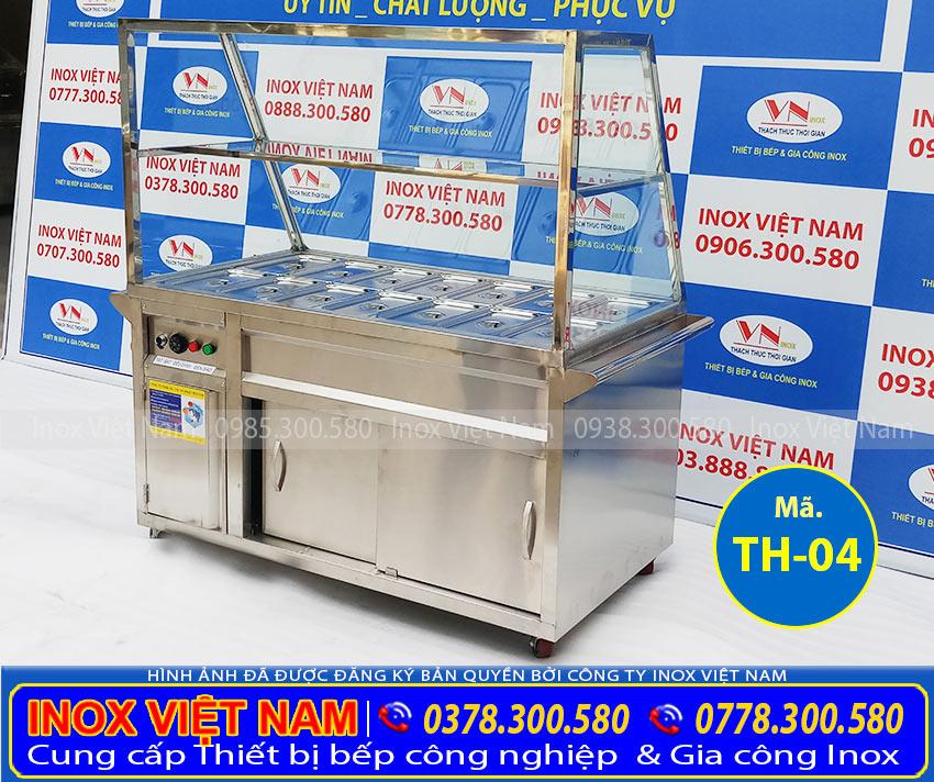 Tủ giữ nóng thức ăn 14 khay inox 304 TH-04 (Ảnh thật tế).