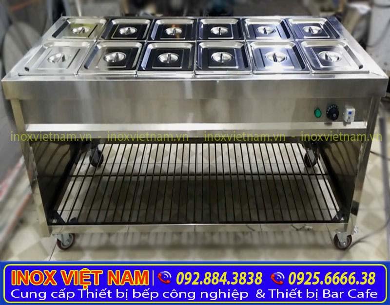 Tủ giữ nóng thức ăn bằng điện 12 khay.