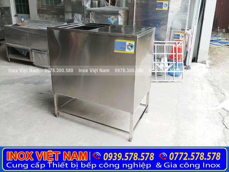 Thiết bị bếp inox công nghiệp địa chỉ bán thùng đá inox âm bàn, thùng đá inox giá rẻ chất lượng nhất tại TPHCM.