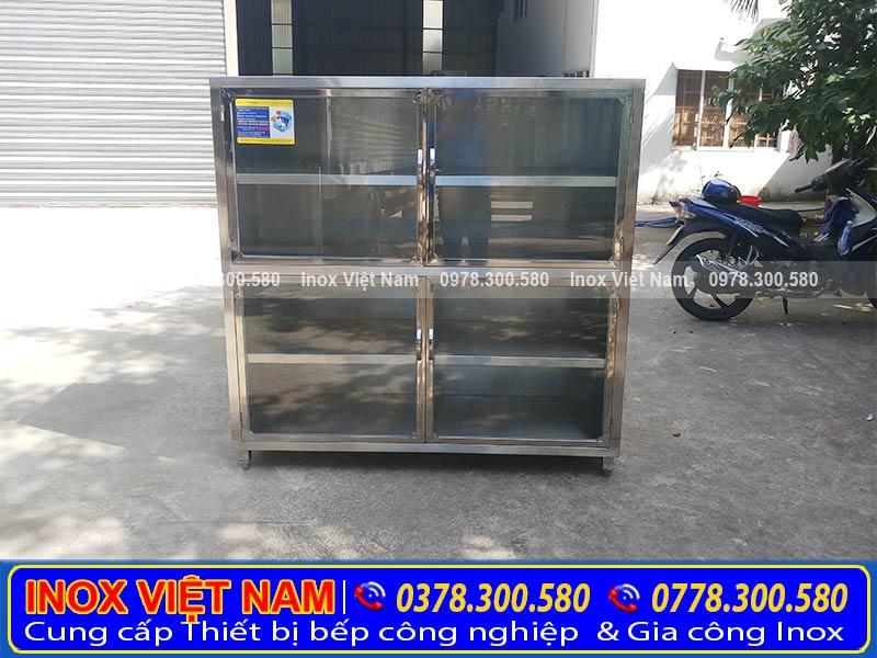 Báo giá tủ đựng chén bát bằng inox, tại TPHCM. Địa chỉ mua tủ chén inox treo tường giá tốt uy tín chất lượng.