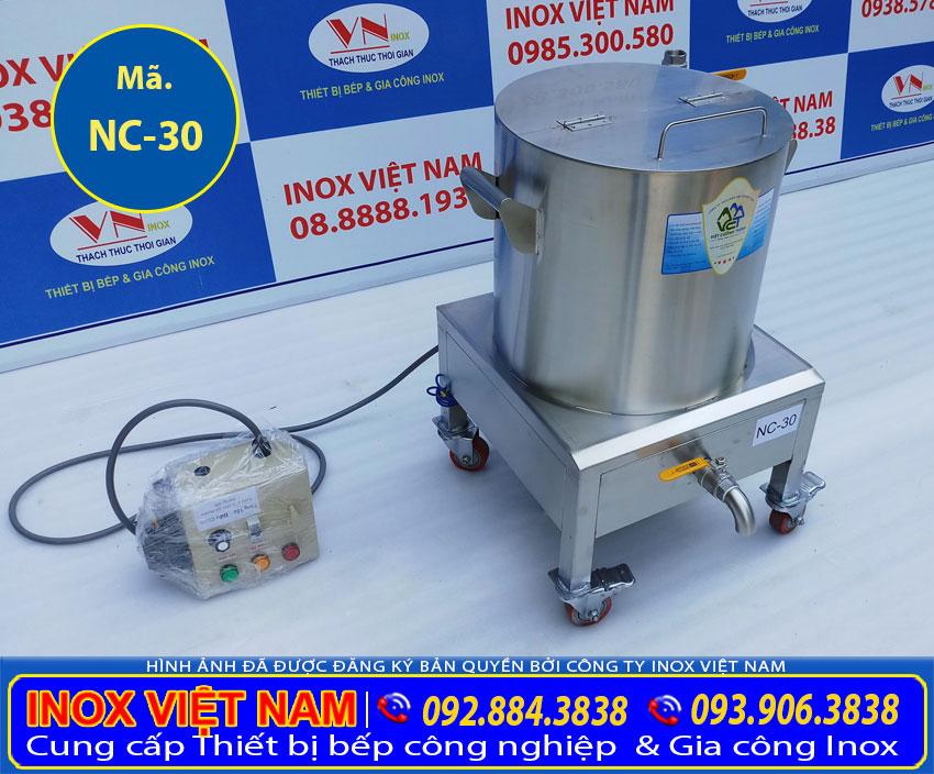 Địa chỉ mua nồi nấu cháo bằng điện 30L, nồi nấu cháo công nghiệp, nồi nấu cháo dinh dưỡng giá tốt tại TPHCM (ảnh thật tế).