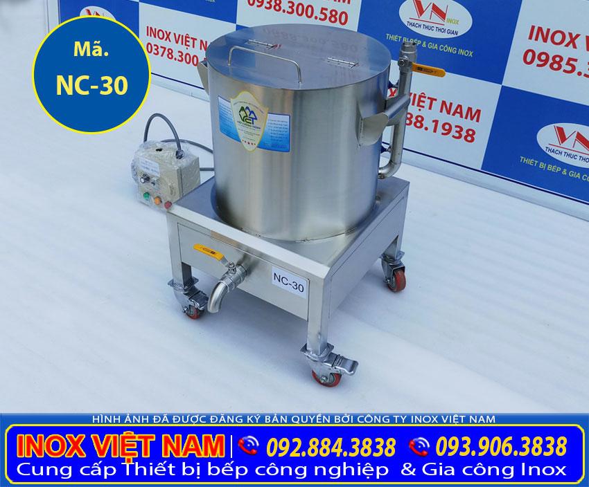 Giá bán nồi nấu cháo công nghiệp 30l, nồi nấu cháo dinh dưỡng công nghiệp ( Ảnh thật tế).