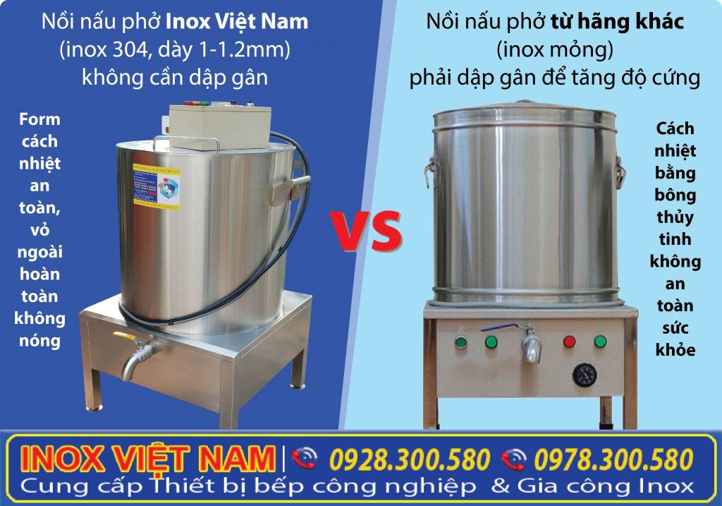 Hãy chọn mua nồi nấu phở bằng điện, nồi điện nấu hủ tiếu, nồi nấu cháo công nghiệp của Thiết bị bếp inox công nghiệp. Giá tốt kiểu dáng đẹp, chất lượng tốt.
