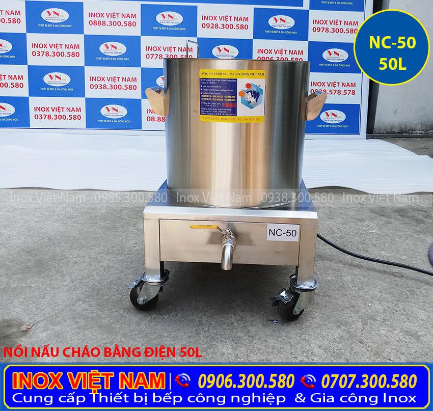 Báo giá nồi nấu cháo bằng điện 50L, nồi nấu cháo sử dụng điện loại 50 lít giá tốt. Liên Hệ Inox Việt Nam Ngay.