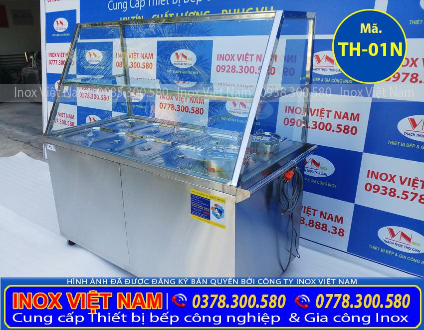 Tủ hâm nóng thức ăn 8 khay + 2 nồi của Inox Việt Nam (Ảnh thật tế).