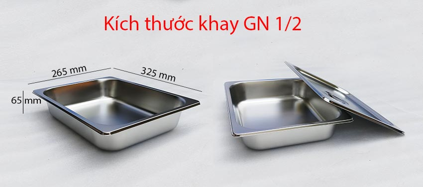 kích thước khay GN 1/2.