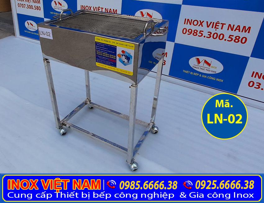 Lò nướng inox công nghiệp LN02- Địa chỉ mua bếp nướng than inox, lò nướng bbq giá tốt tại TPHCM.