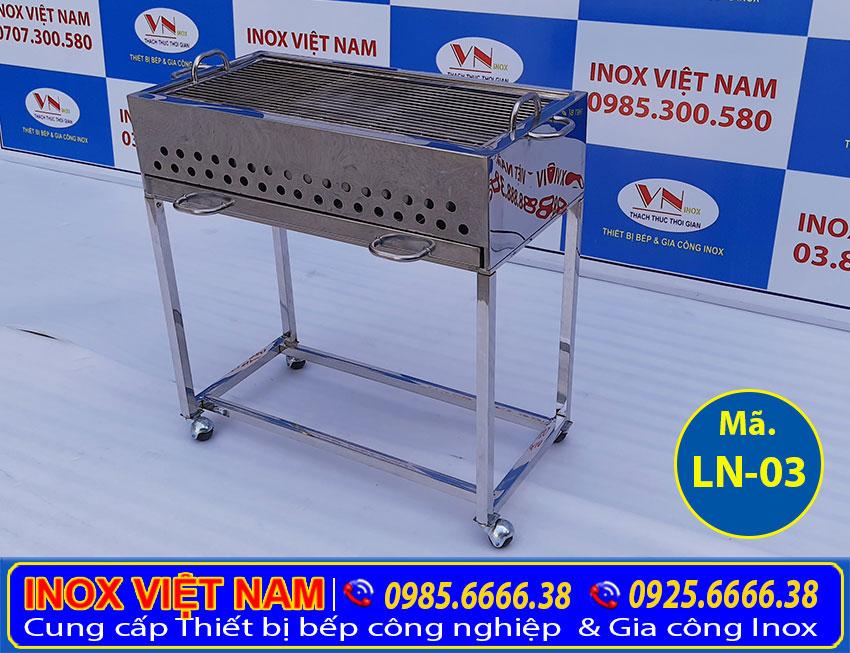 Bếp nướng than inox loại lớn LN-03 (Ảnh thật tế).