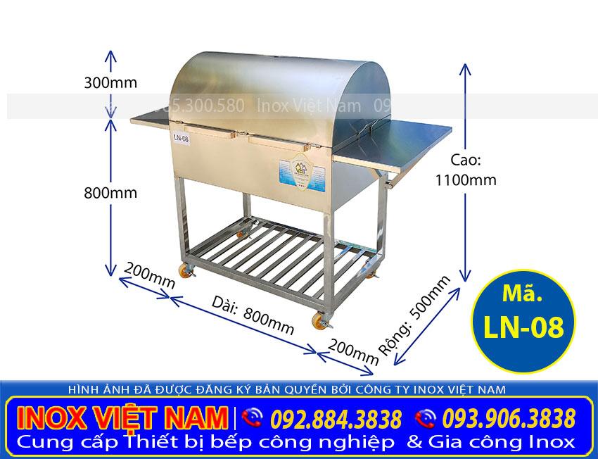 Lò nướng than inox ln-08, bếp nướng than inox, lò nướng sườn inox, bếp nướng bbq. Chất liệu inox cao cấp kiểu dáng đẹp (Ảnh thật tế).