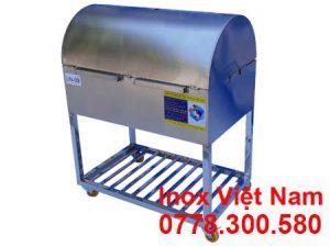 Bếp Nướng Than Inox 304 Có Nắp Đậy LN-09